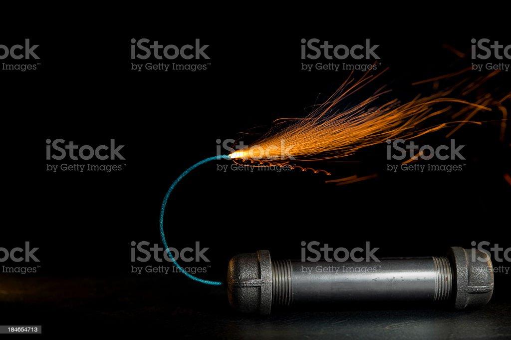 Pipe Bomb royalty-free stock photo