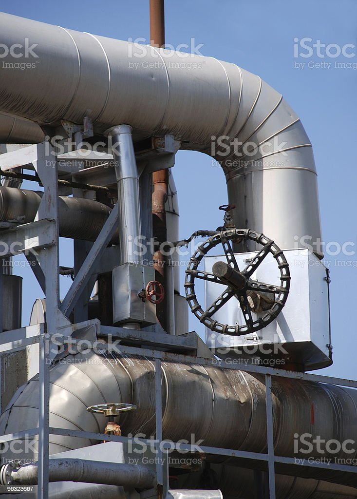 pipe connectors and valve royalty-free stock photo