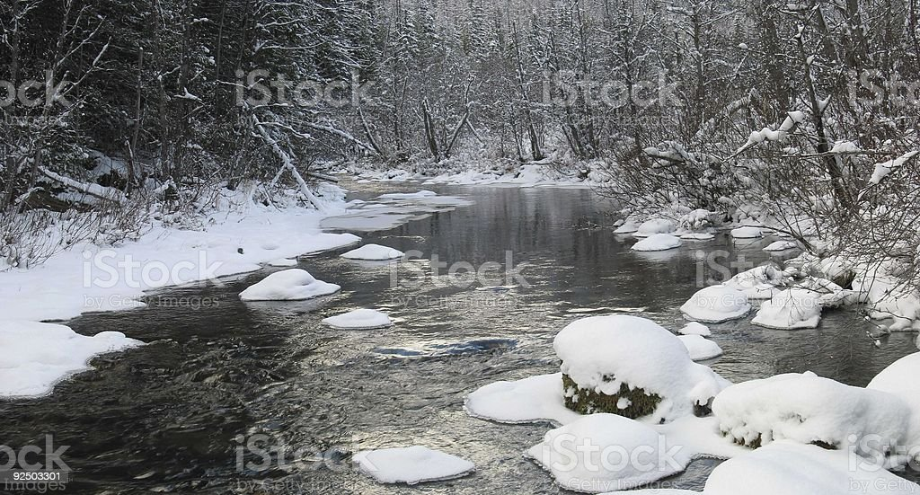Pipe Creek In The Winter #1 Panoramic royalty-free stock photo