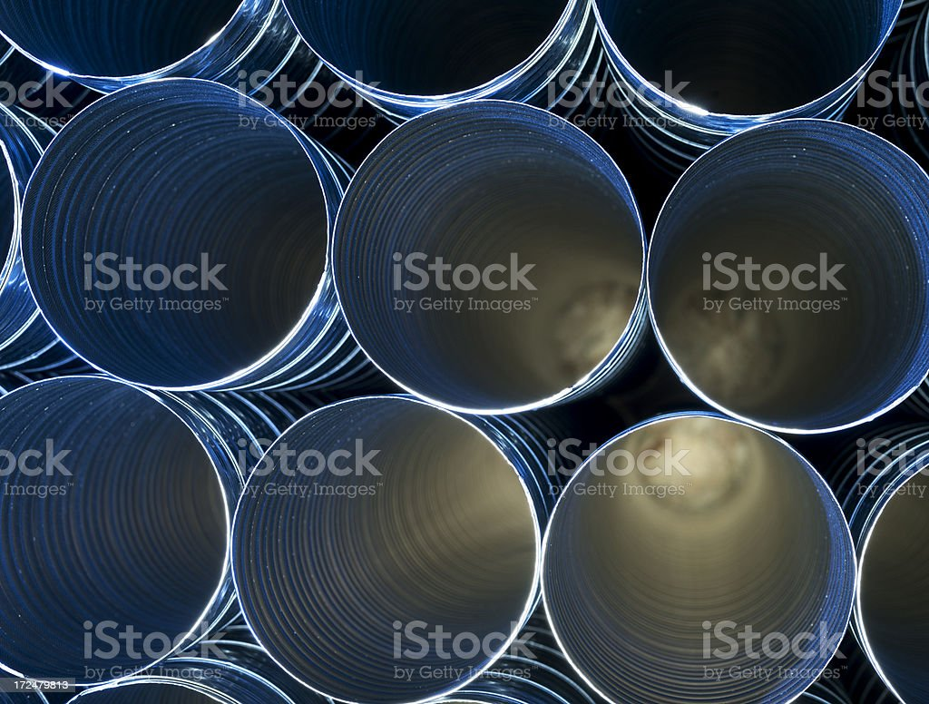 Pipe ducting stock photo