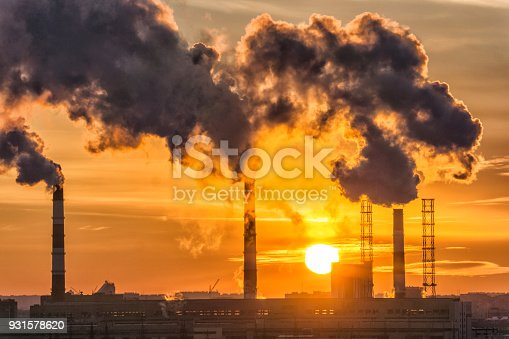 air pollution the release of dirty waste into the environment