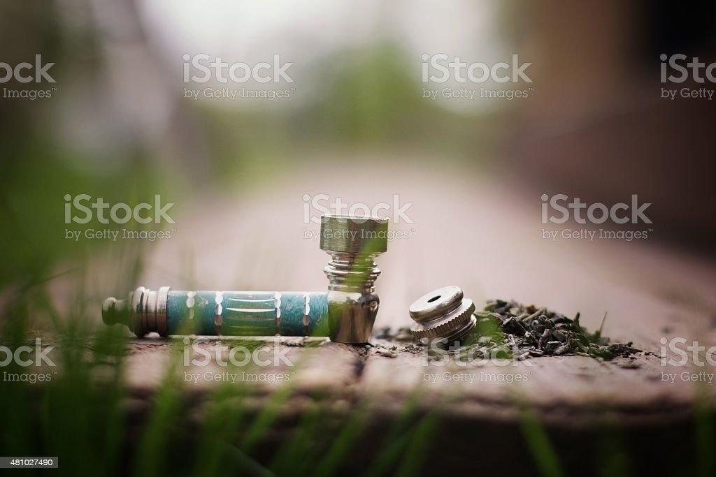 Pipe for tobacco smoking marijuana stock photo