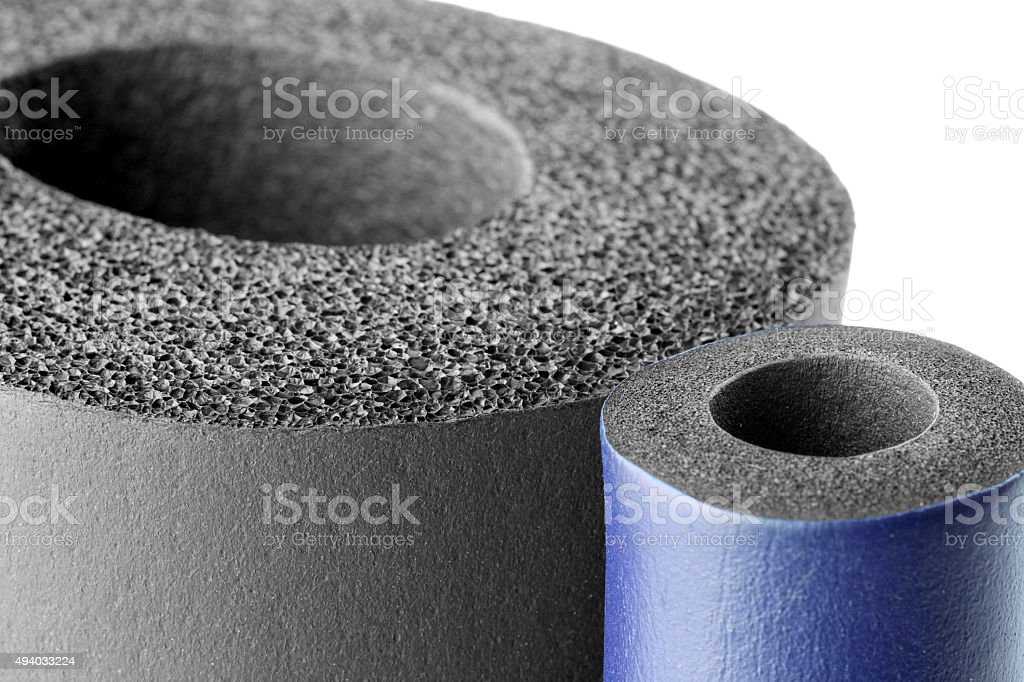 Pipe Insulation stock photo