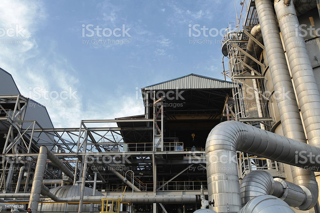 pipe line oil refinery royalty-free stock photo