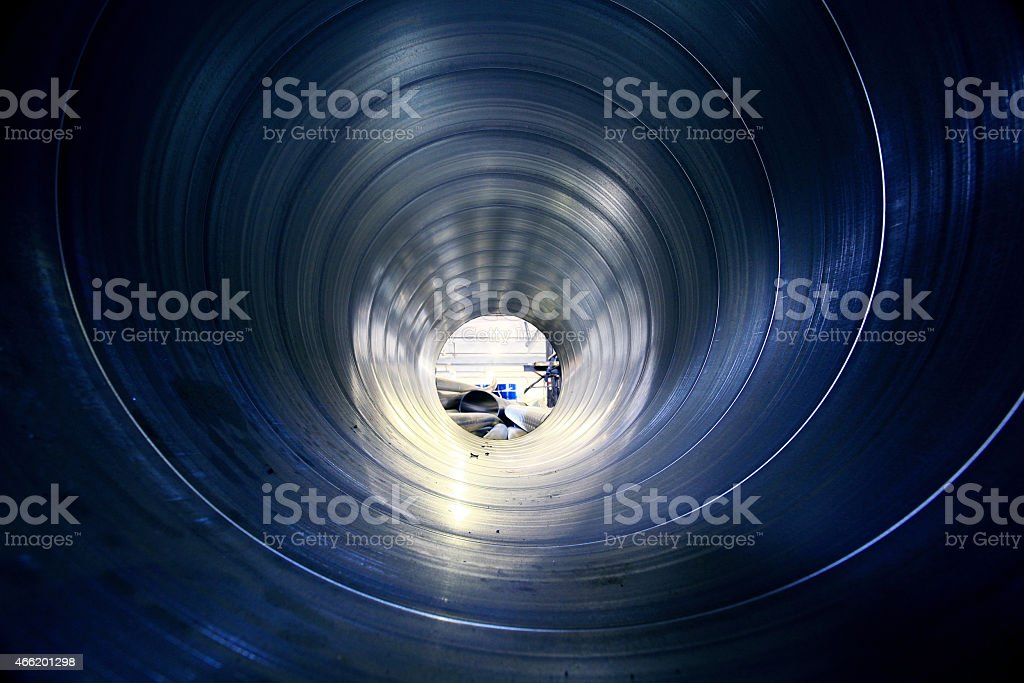 pipe metal texture inside stock photo
