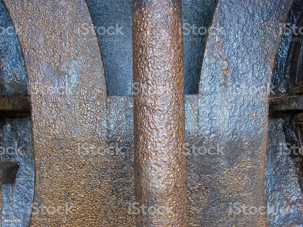 Pipe of an Old Furnace, detail royalty-free stock photo