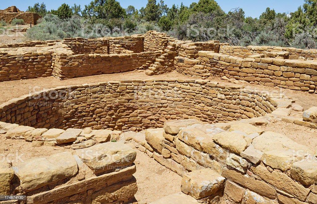 Pipe Shrine House Ruins - Mesa Verde National Park, Colorado stock photo