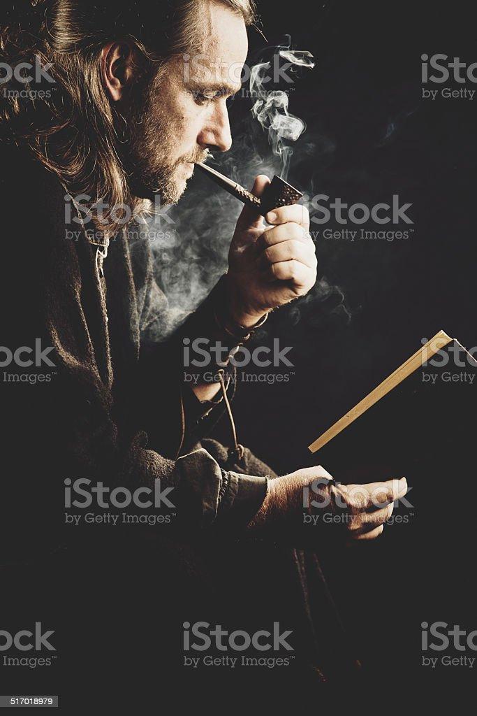 Pipe Smoking stock photo
