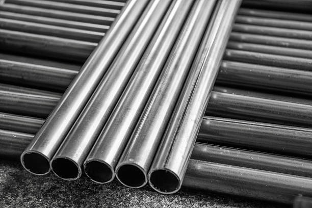 pipe steel stock photo