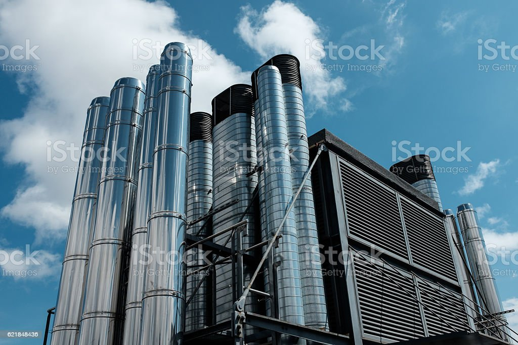 pipe system. stock photo