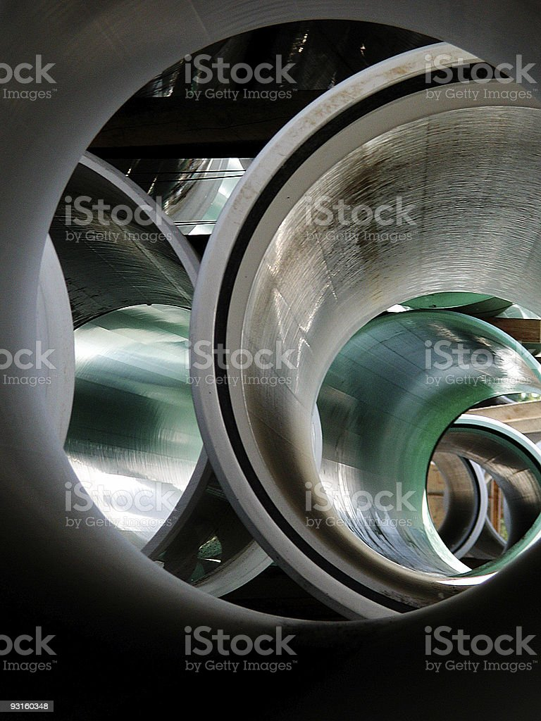 Pipe to Pipe-Line royalty-free stock photo