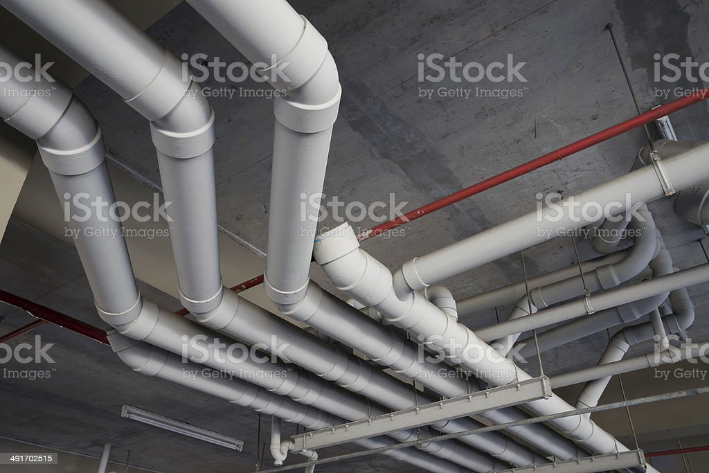 Pipe tube, the roof top for drain & sewer system royalty-free stock photo
