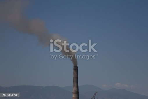 istock pipe with smoke 501061701