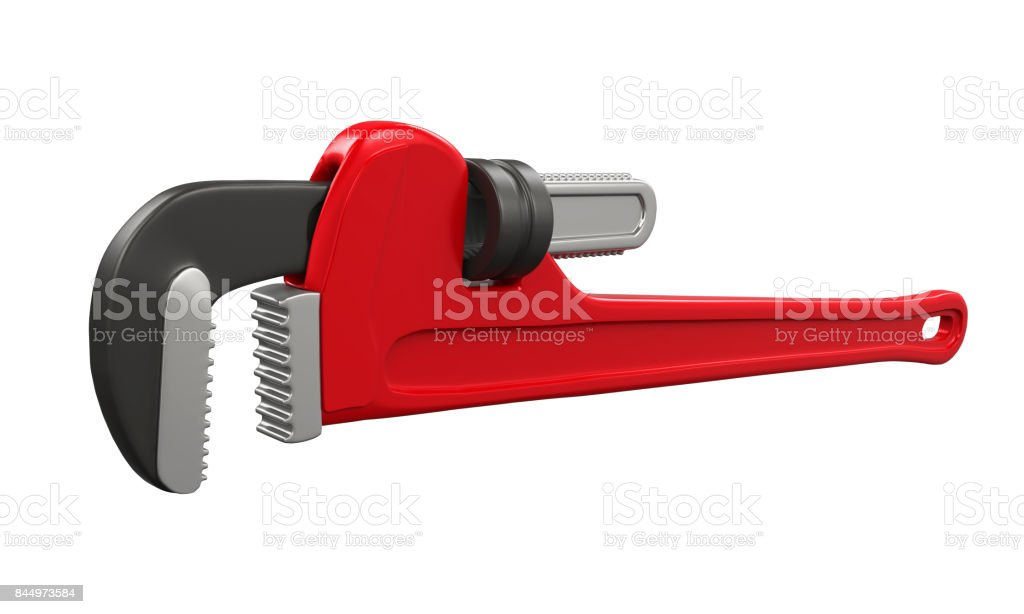 Pipe Wrench Isolated stock photo