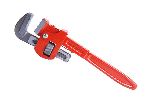 pipe wrench Adjustable pipe wrench isolated on white background adjustable wrench stock pictures, royalty-free photos & images