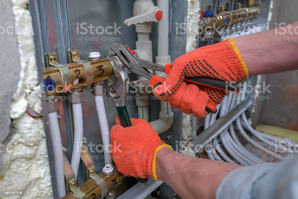 pipefitter stock photo
