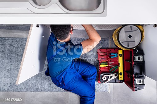 Plumber, Sink, Repairman, Kitchen, Water Pipe