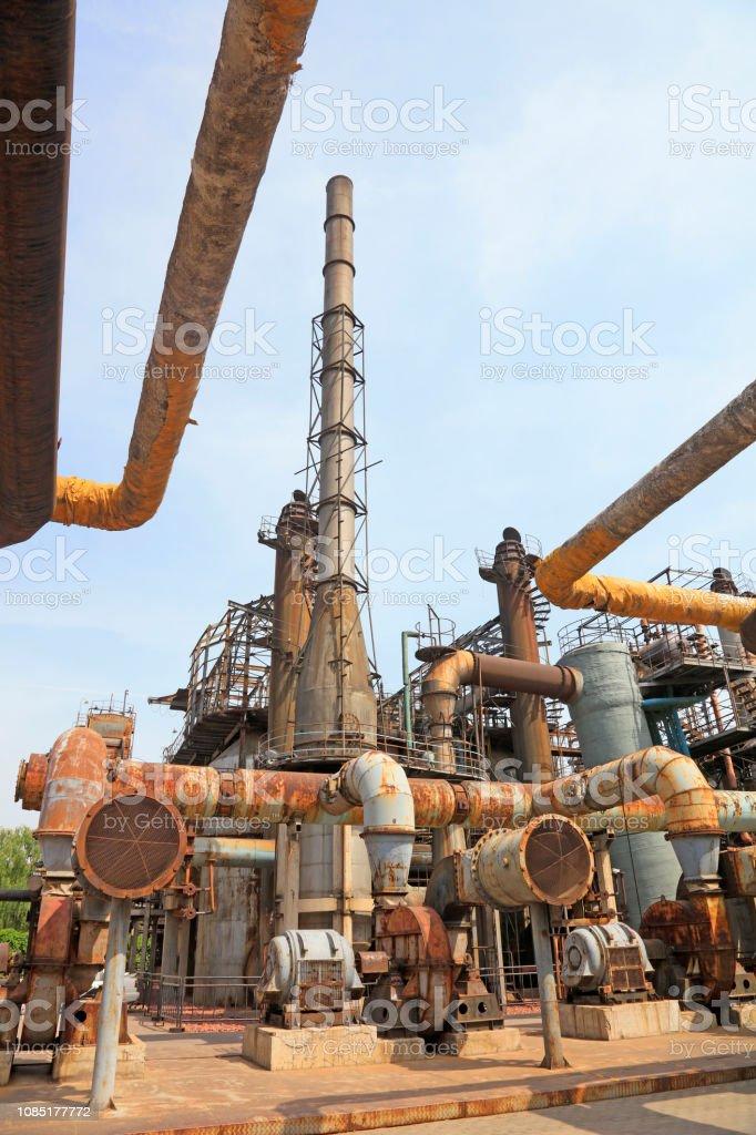 Pipeline und Schornstein in der Fabrik, Closeup Fotos – Foto