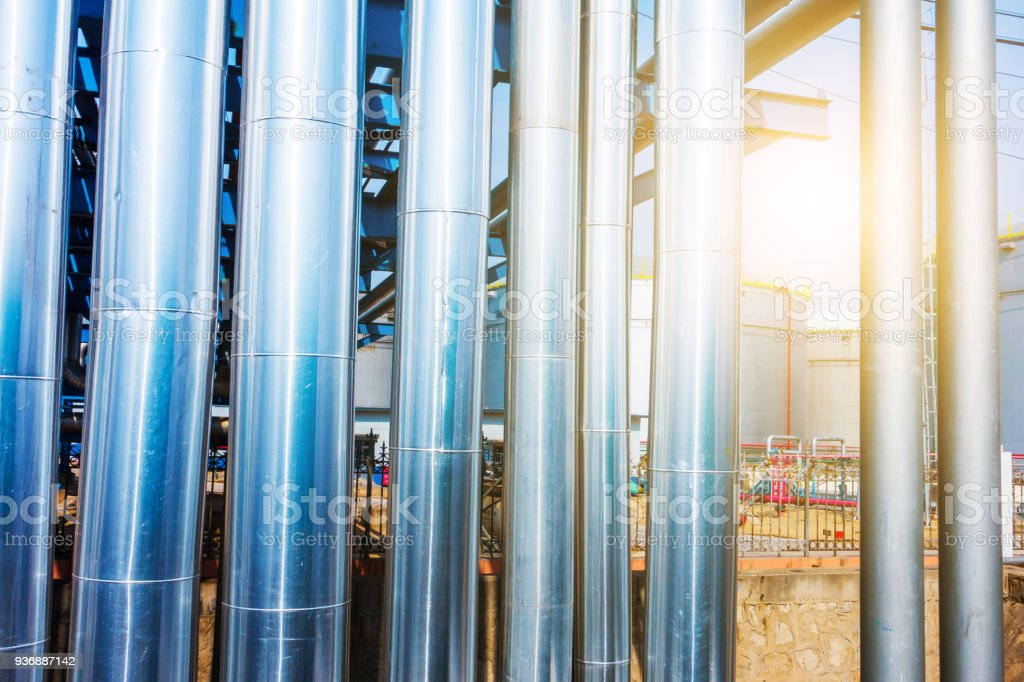 Pipeline In Chemical Plant stock photo