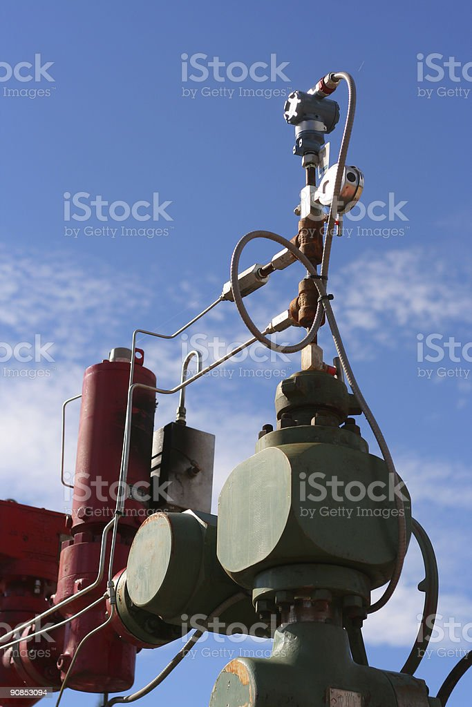 Pipeline instruments... royalty-free stock photo