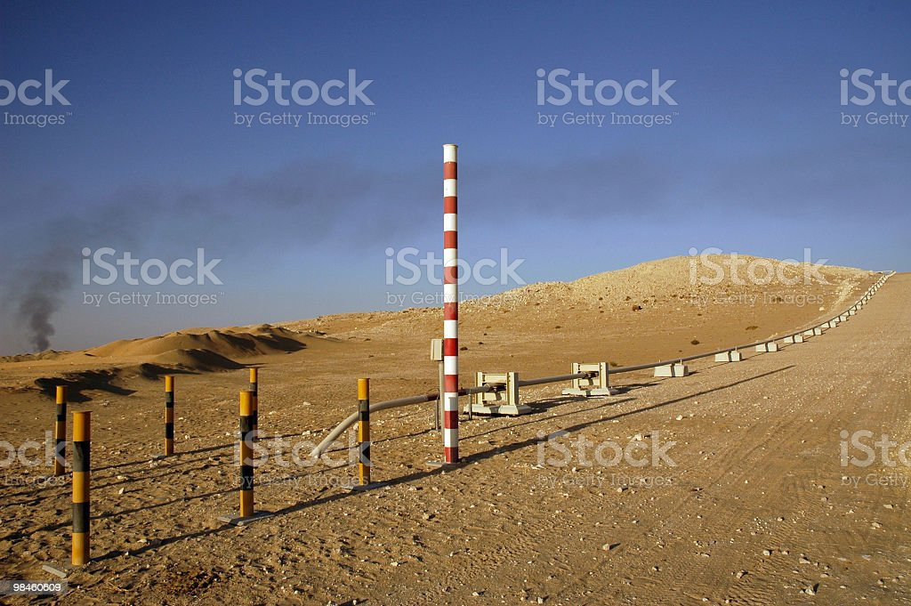 Pipeline Markers stock photo