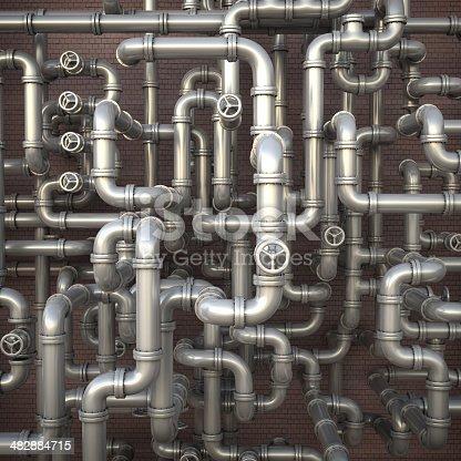 istock Pipeline maze 482884715