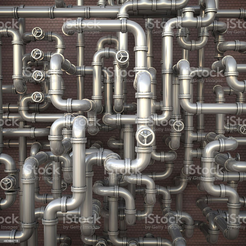 Pipeline maze stock photo