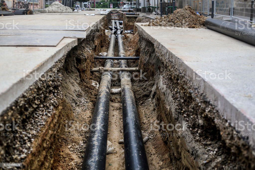 pipeline - Lizenzfrei Abwasser Stock-Foto