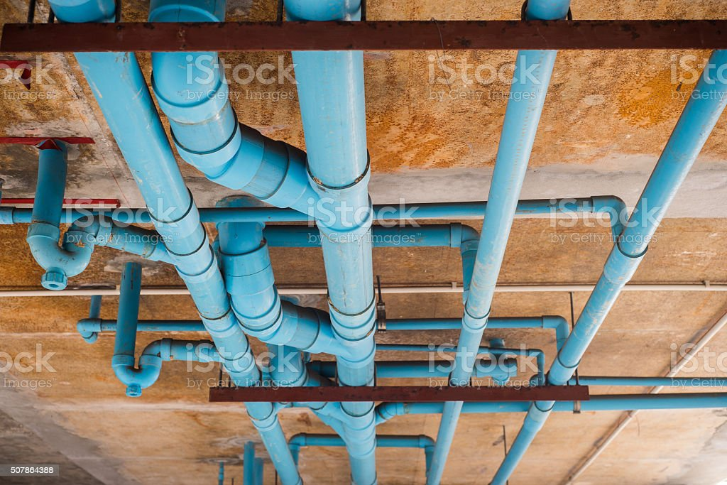 PVC pipeline. stock photo