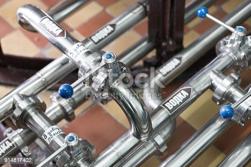 istock Pipeline system made of stainless steel 914817402