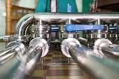 istock Pipeline system made of stainless steel 938405074