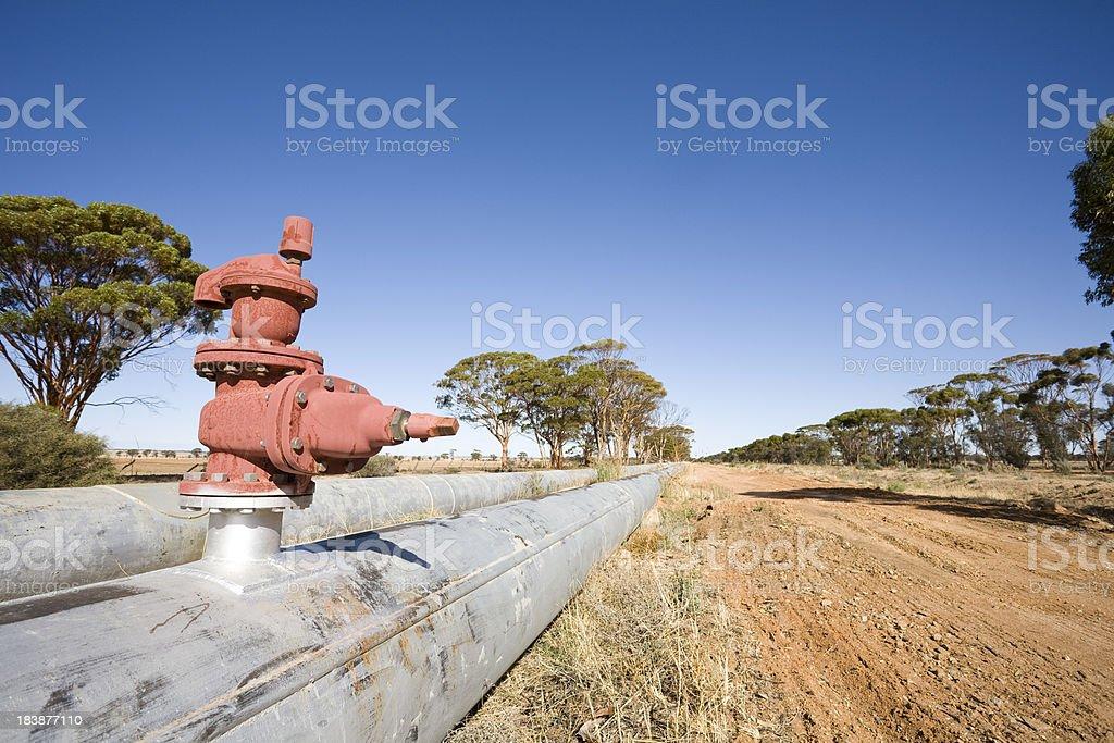 Pipeline to Kalgoorlie stock photo