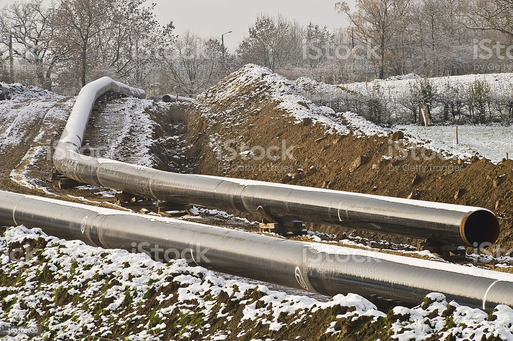 Pipeline under construction royalty-free stock photo