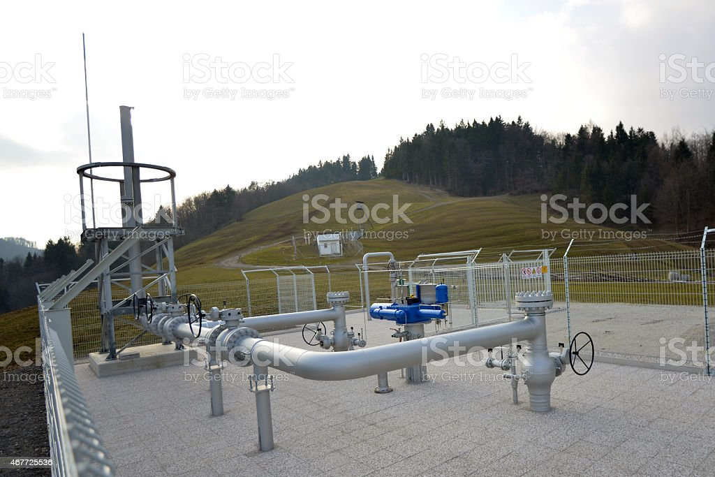 Pipeline velves stock photo