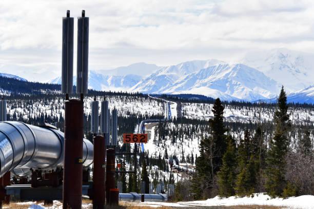Pipeline view stock photo