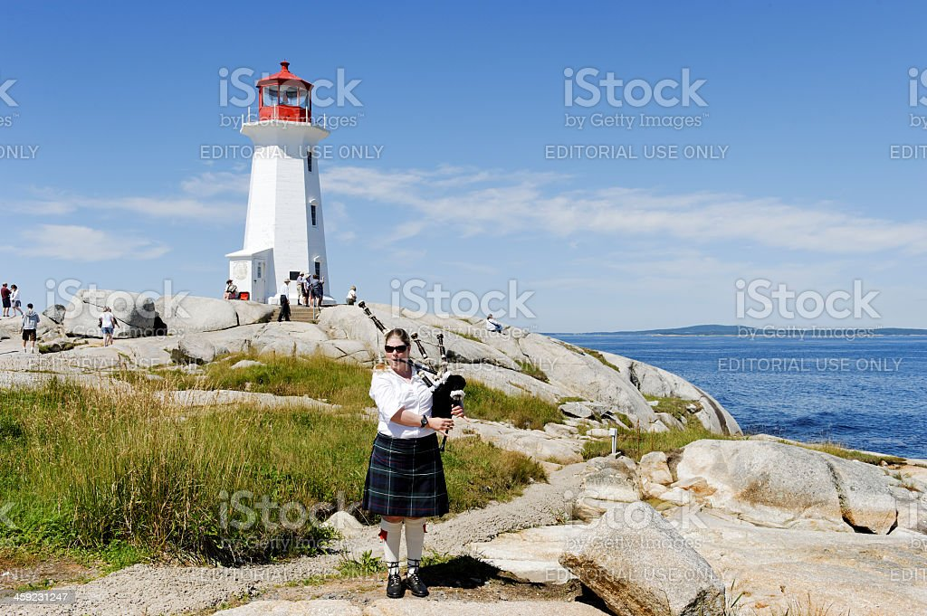 Piper at Peggy's Cove royalty-free stock photo