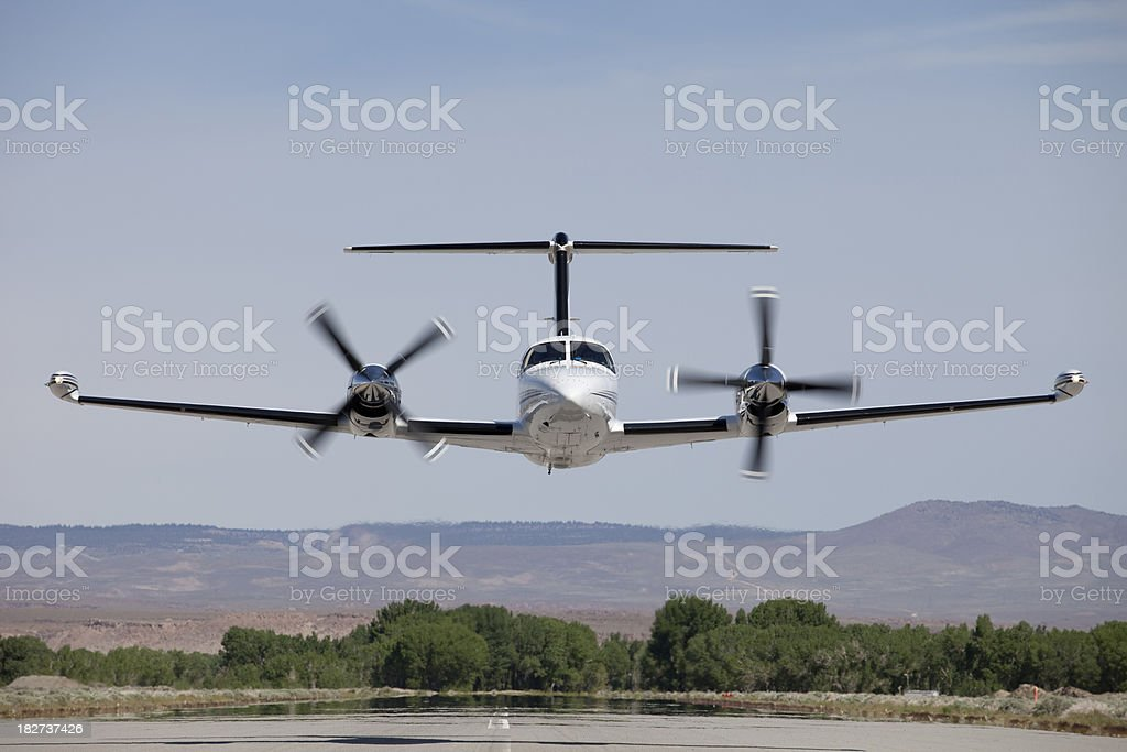 Piper Cheyenne 400 SL Low Pass royalty-free stock photo