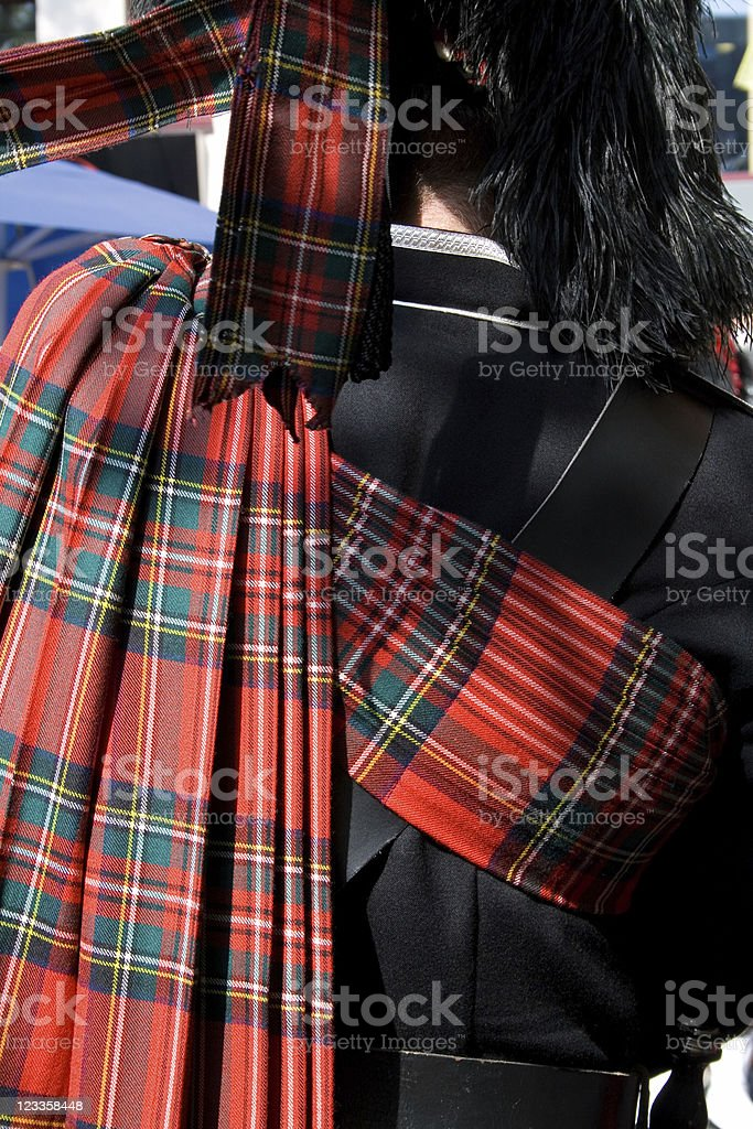 Piper with tartan - Royalty-free Bagpipe Stock Photo