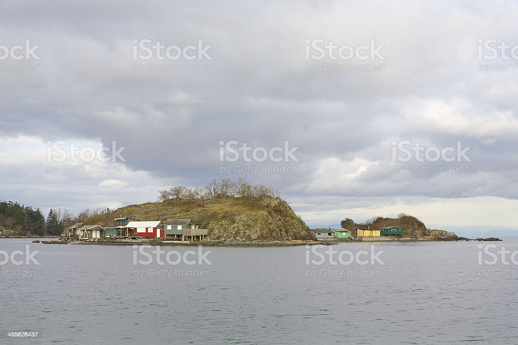 Pipers Lagoon Shacks, Nanaimo royalty-free stock photo