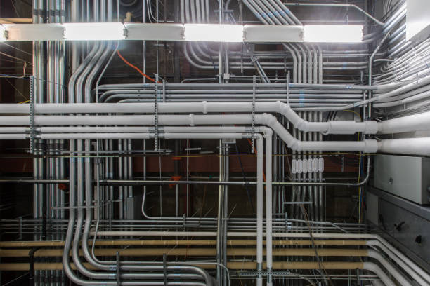Pipes and Conduit stock photo