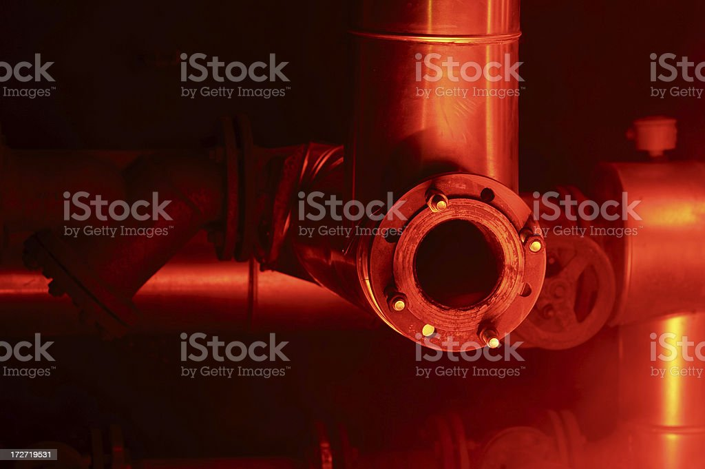 Pipes and Steam royalty-free stock photo