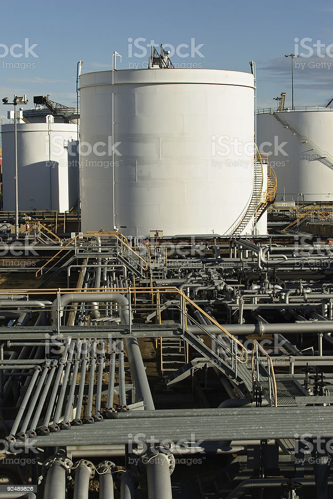 Pipes and tanks royalty-free stock photo