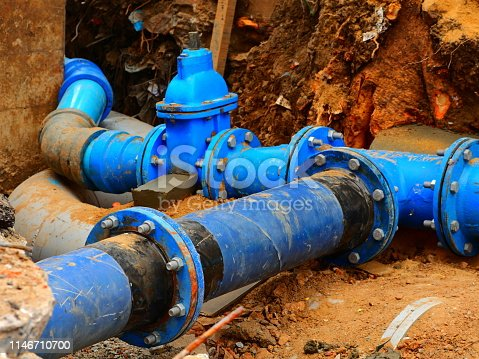 Paint, Pipe - Tube, Green Color, Industry, Machine Valve