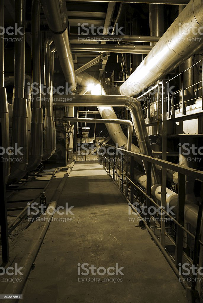 pipes at a power plant. royalty-free stock photo