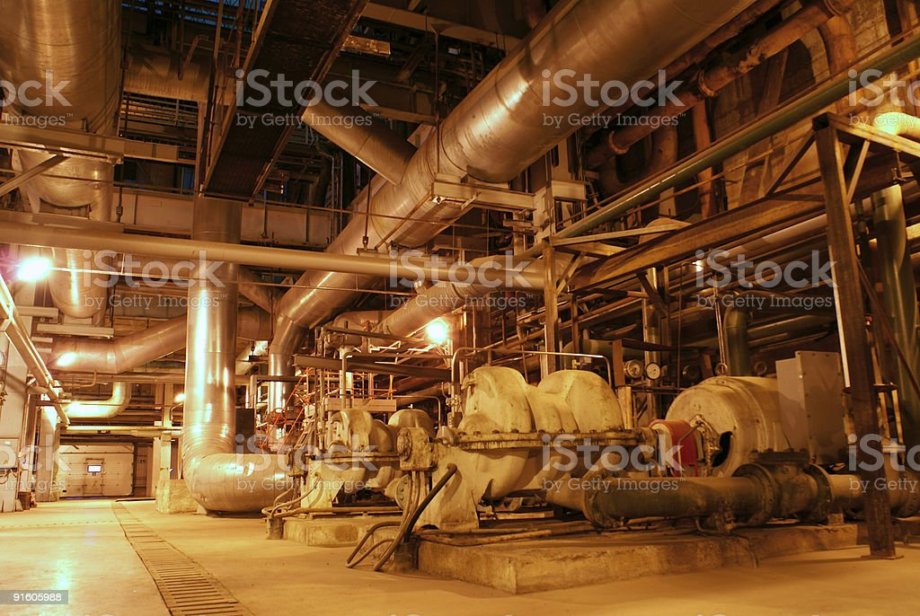 pipes at a power plant royalty-free stock photo
