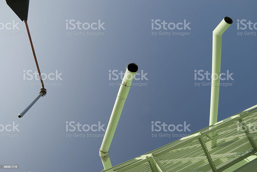 Pipes in the sky royalty-free stock photo