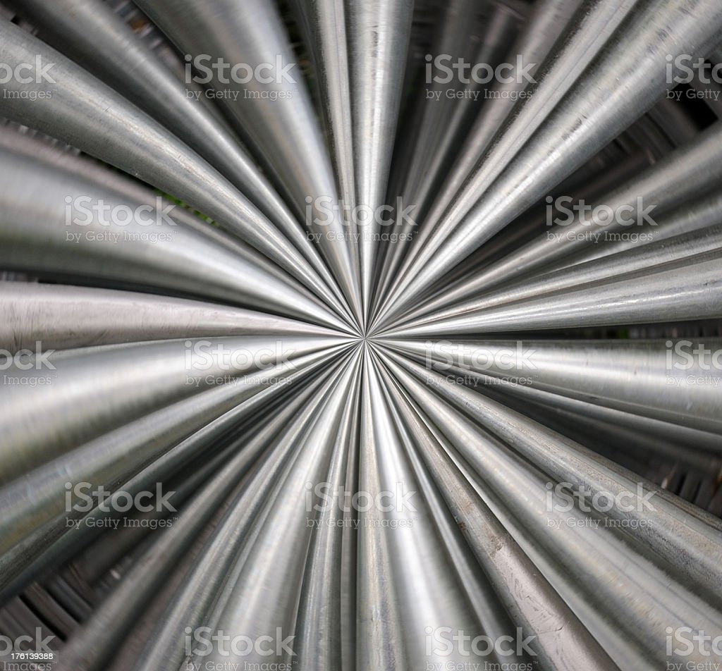Pipes into infinity royalty-free stock photo