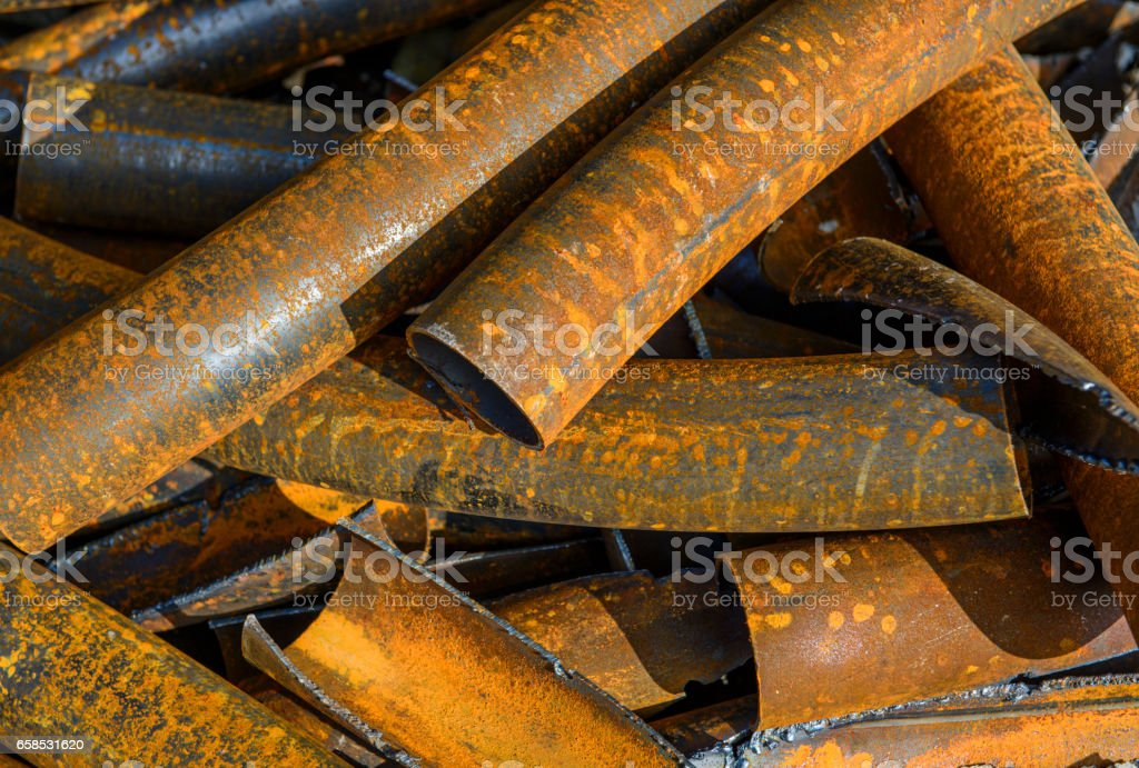 Pipes metal stack stock photo