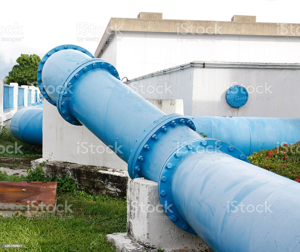 pipes of an irrigation water royalty-free stock photo