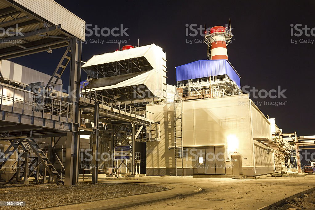 pipes of thermal power plant royalty-free stock photo